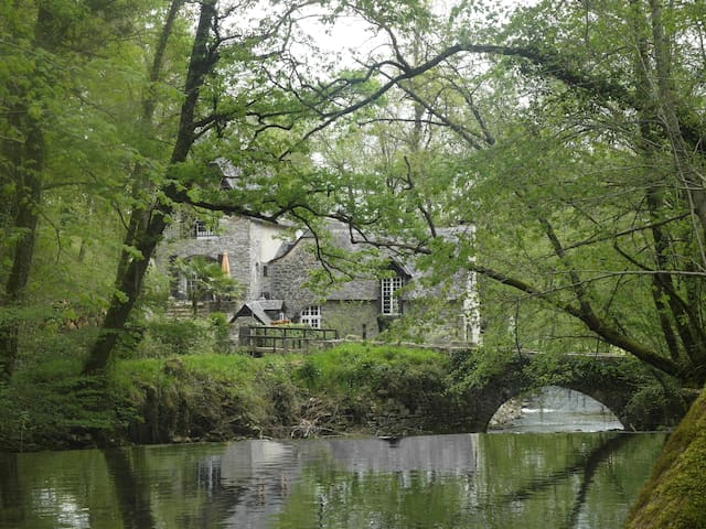 Watermill in the Altantique Pyrenees, Oloron, Pau - Eysus - Huis