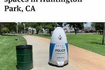 Huntington Park is an innovative and safe city. Check out our Robocop at the nearby city park