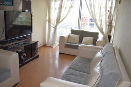 Double bed in apartment to 15min from Airport - Los Olivos - Apartmen