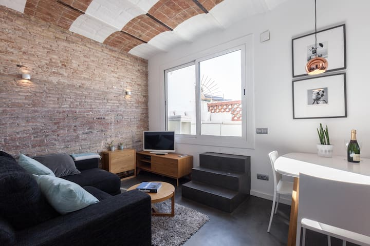 Rooftop Apartment with terrace and views - Barcelona - Leilighet