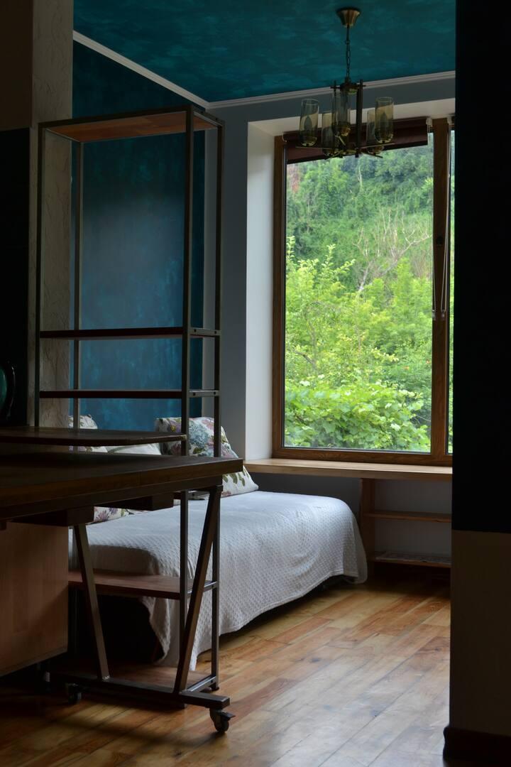 Апартаменти з балконом та видом на річку