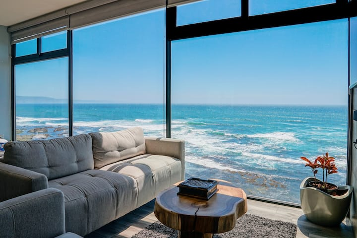 Influencer's Ultra-Modern Beachfront Cliff Condo
