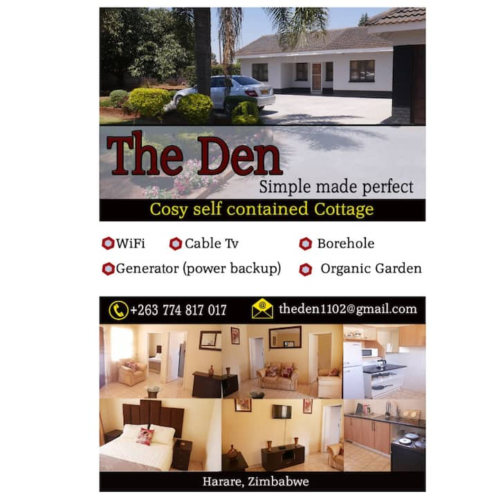 THE DEN, Harare.....simple made perfect!