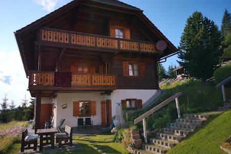 Ferienwohnung im Blockhaus mit Panoramablick 60qm