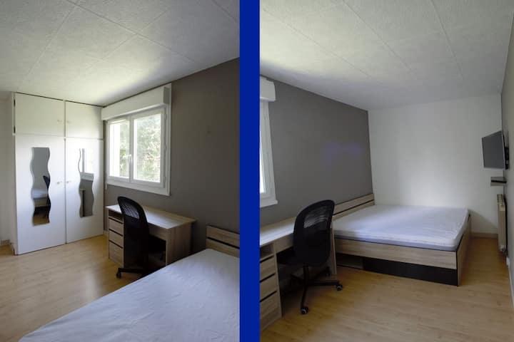 Chambre dans un appartement partagé (4 chambres)