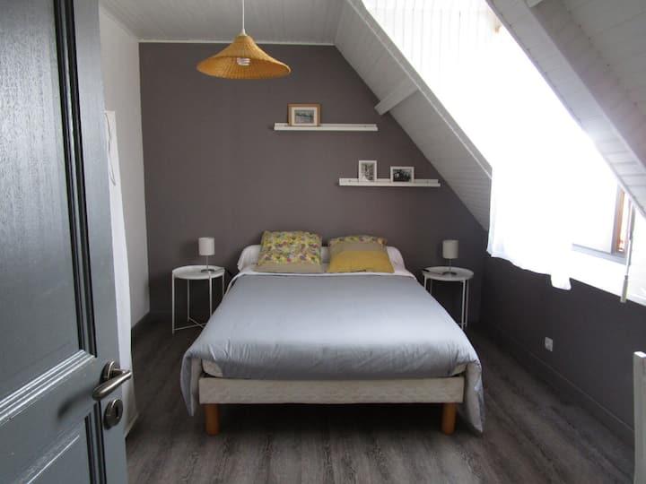 Bruz, Au calme, chambre avec sdb et salon privés