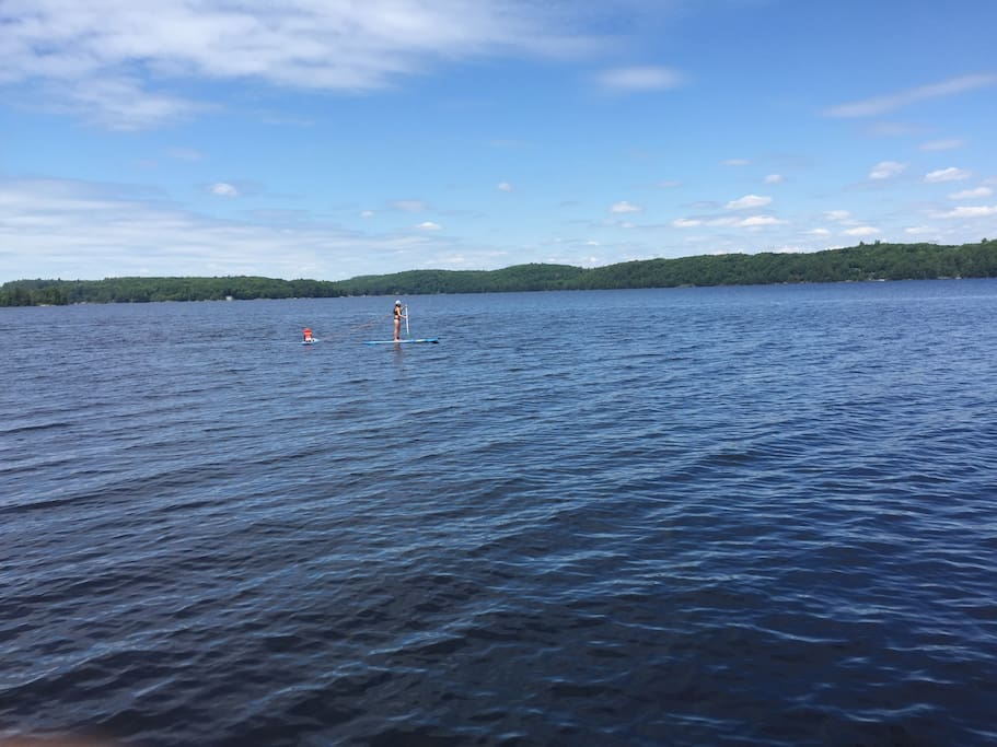 The lake is the main attraction so we have a beautiful wooden canoe as well as two stand-up paddle boards for you to try out.
