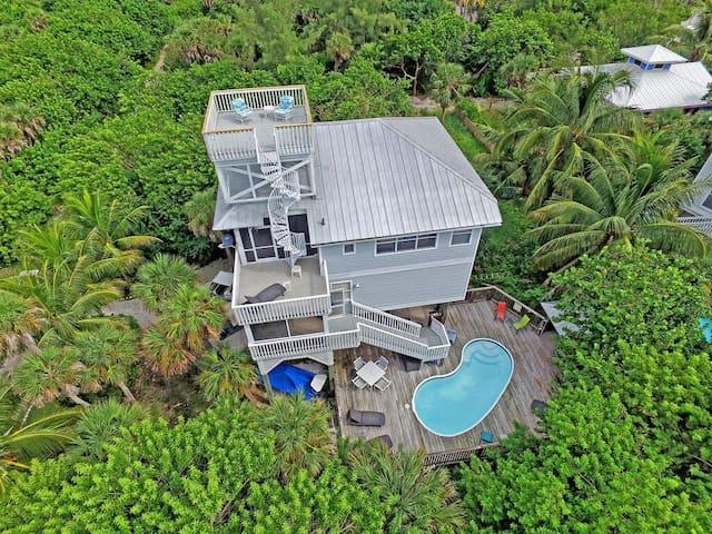 Reel Paradise - 4 BR-Pr. Pool-Pets-2 Golf carts - Captiva - Dům