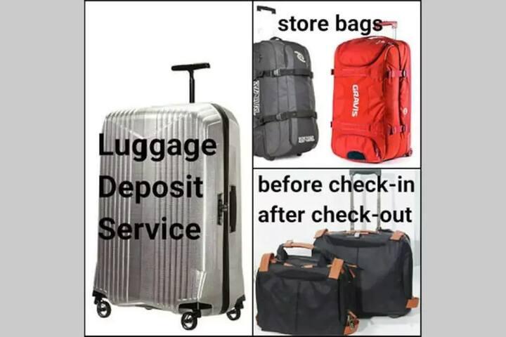 free luggage dropoff service