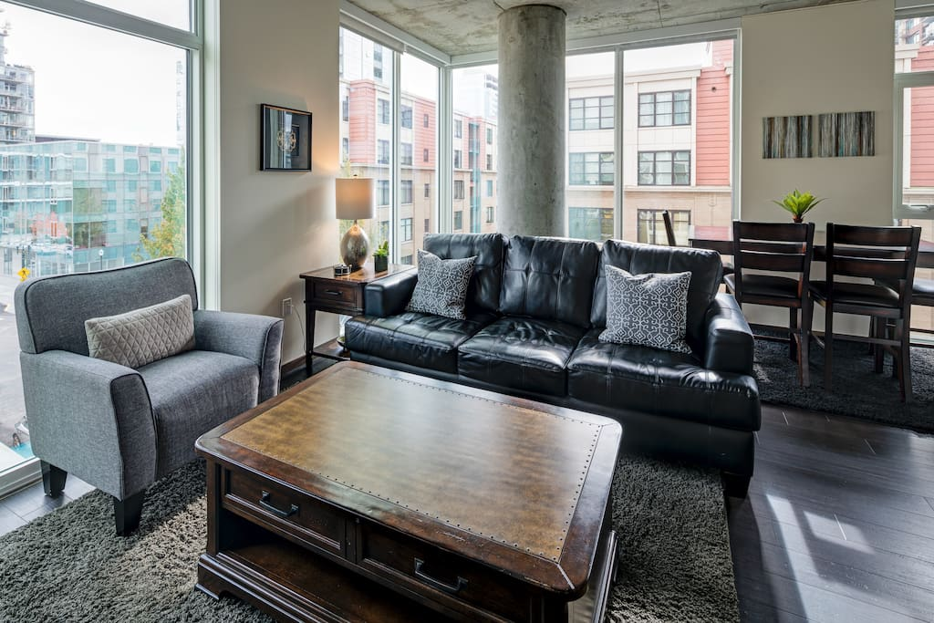 Living Room at Block 17 by Stay Alfred