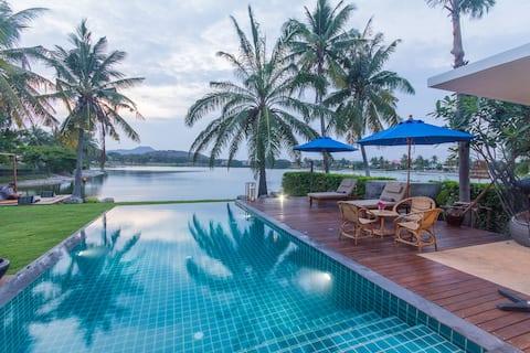 Iconische villa aan het meer +Maid PalmHills Golf Hua Hin