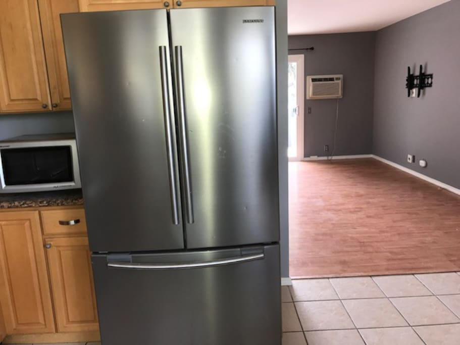 New stainless steel fridge!
