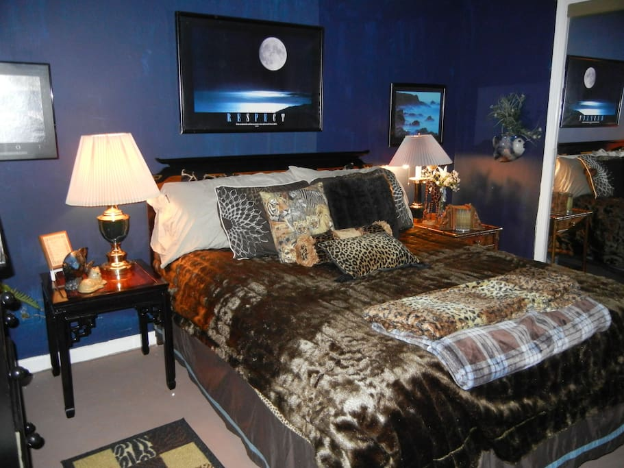 Bedroom has ALL amenities, cable TV, DVD and CD collection, books, huge closet, etc.