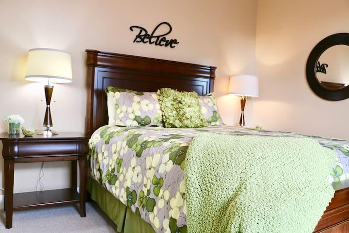 Second Bedroom, Queen Bed, Dresser, Full Closet