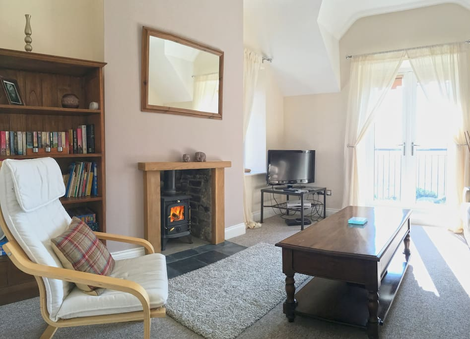 The Living Room has been recently updated with a log burner and also has two comfy sofas.
