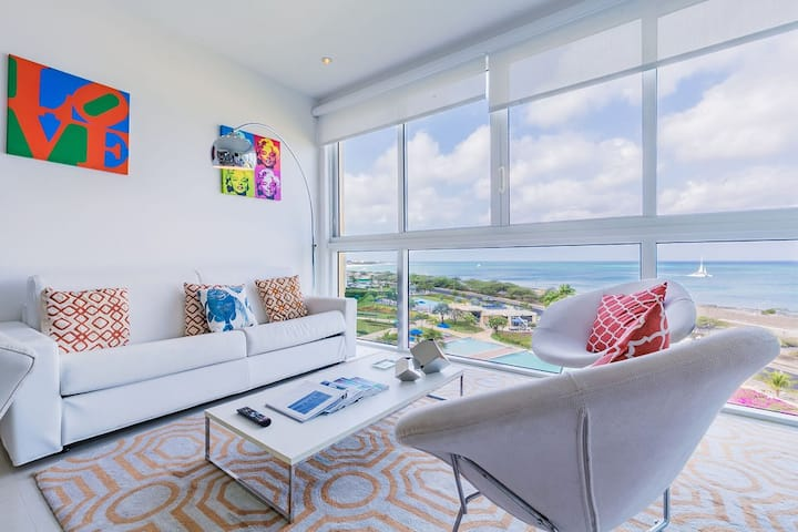 All you need is love and beach, ocean view condo!