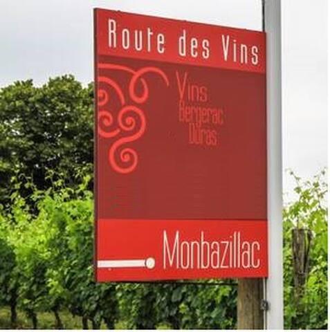 Le Domaine est sur la Route des Vins