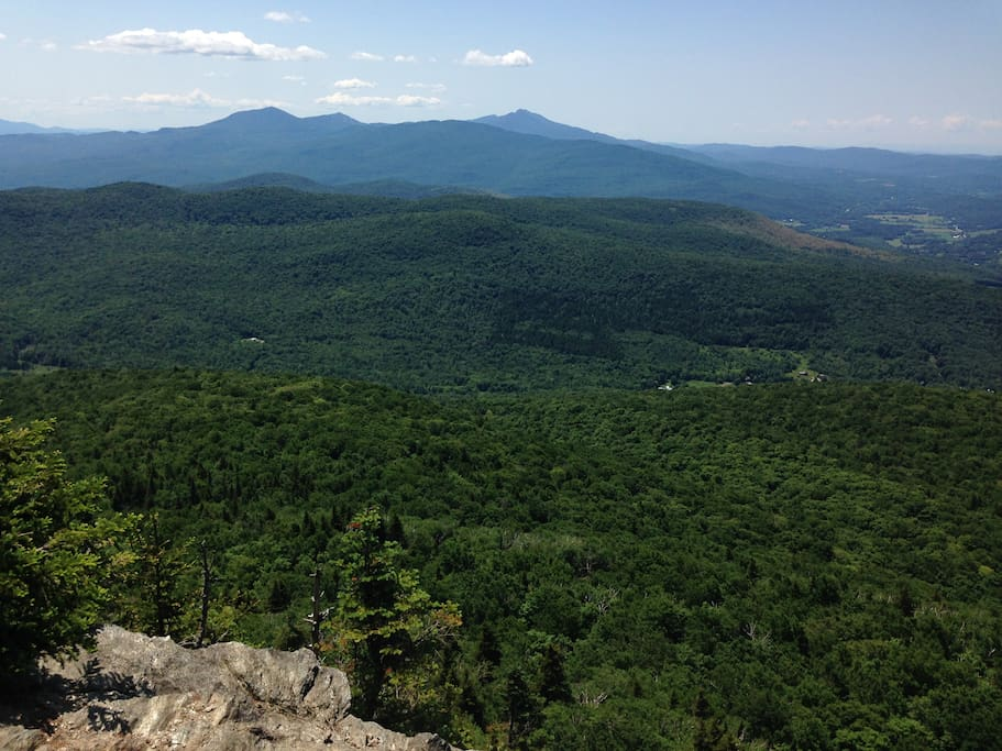 Close to fabulous hiking, this is from Mount Laramay looking south toward Mount Mainsfield.
