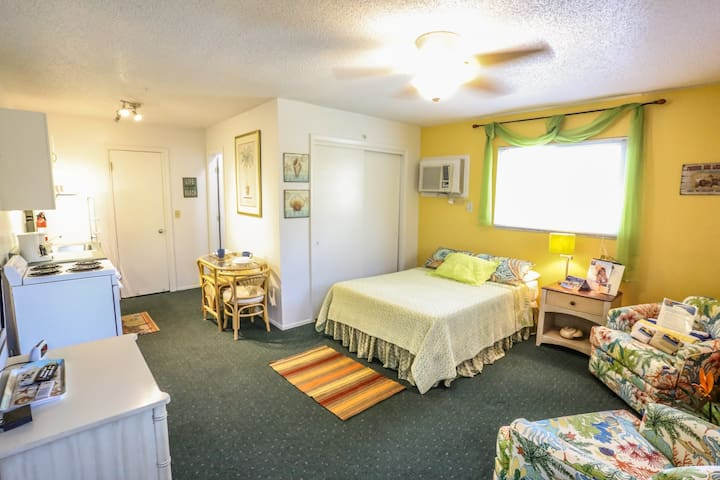 The Shell Shack is a studio apartment within a four plex at Iguana Mamas Beach House