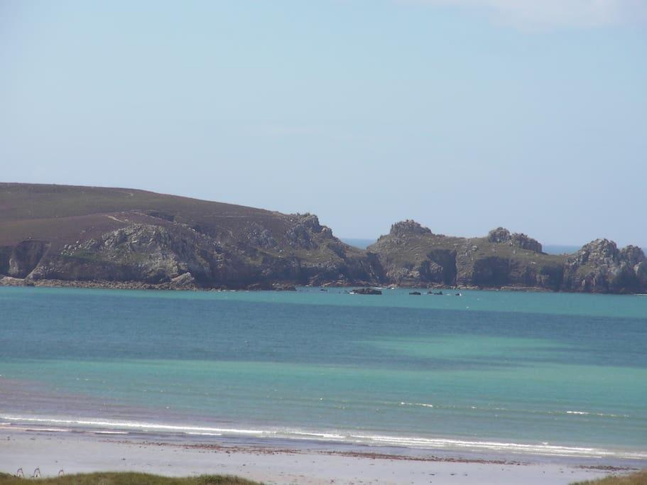 vue sur la plage l'anse de Dinan