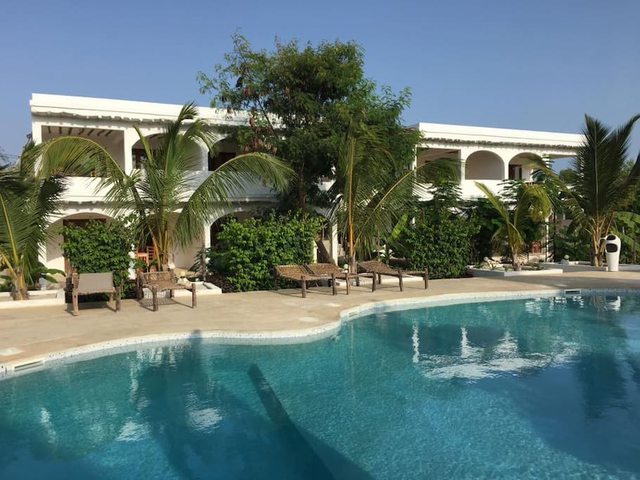 Bahari apartment is at the ground floor, swimming pool in front