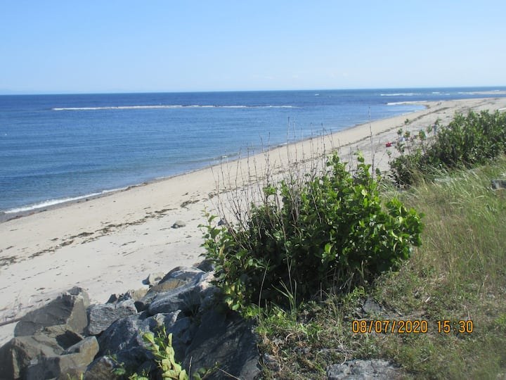Quiet log home on the beach: whale watch+fishing