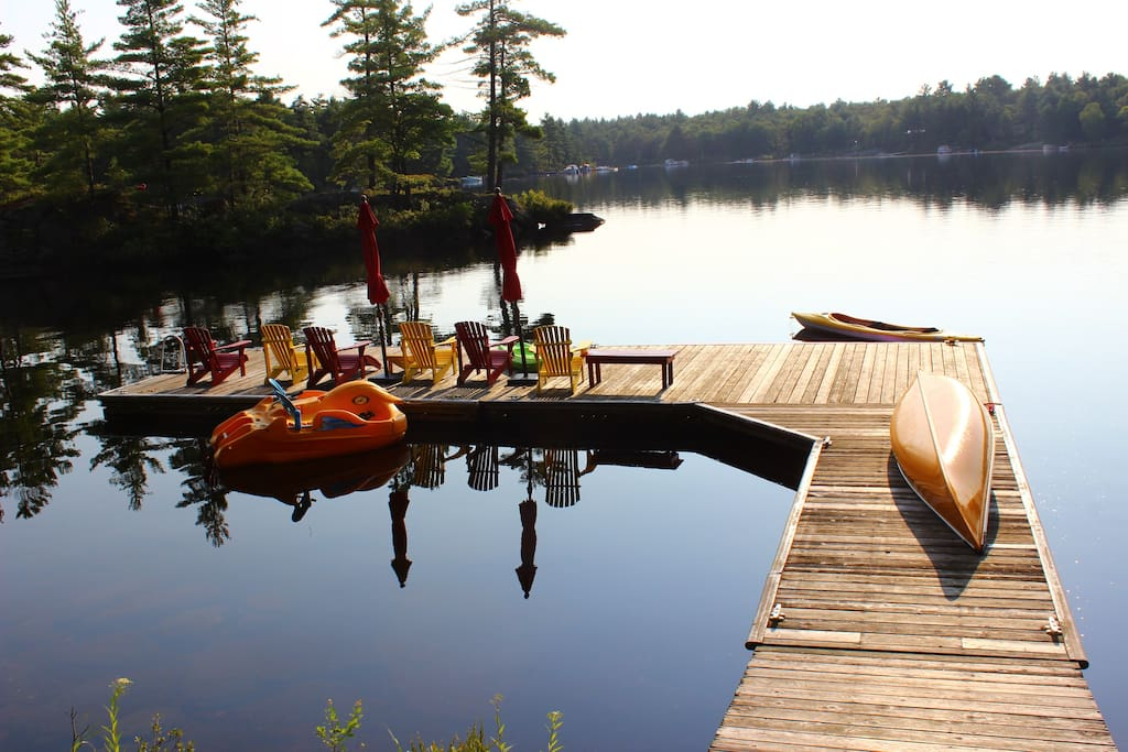 Take a relaxing break on the water