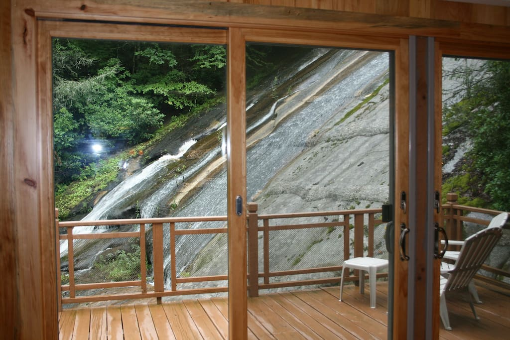 Waterfall view from the great room.