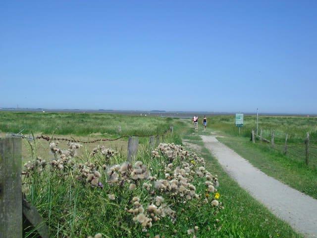 Fußweg zum Naturstrand, in ca. 10 Min erreichbar