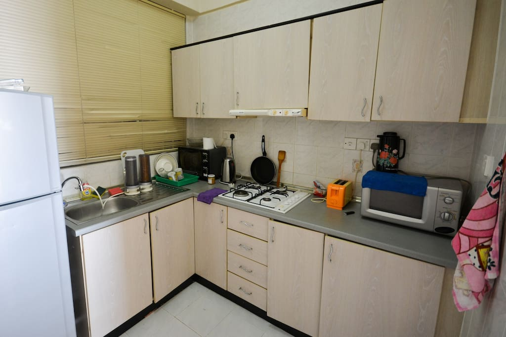 Kitchen with amenities for simple cooking