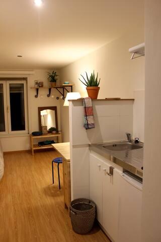Studio cosy /idéal pour une personne ou un couple! - Etterbeek - Appartement