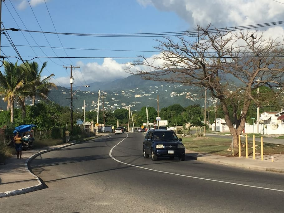 Molynes Rd. close to the property