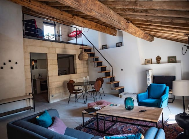 Beautiful renovated flat in Uzès centre (aircon)