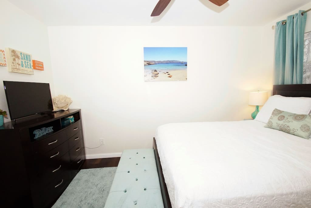Spacious bedroom with new everything!