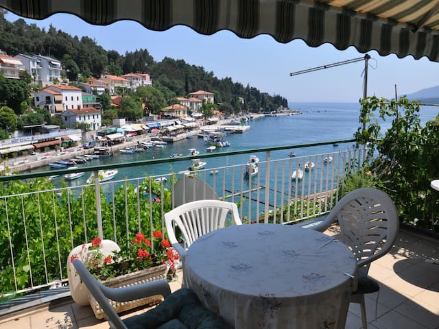 Room w/ balcony,sea view,bathroom - Rabac - Hus