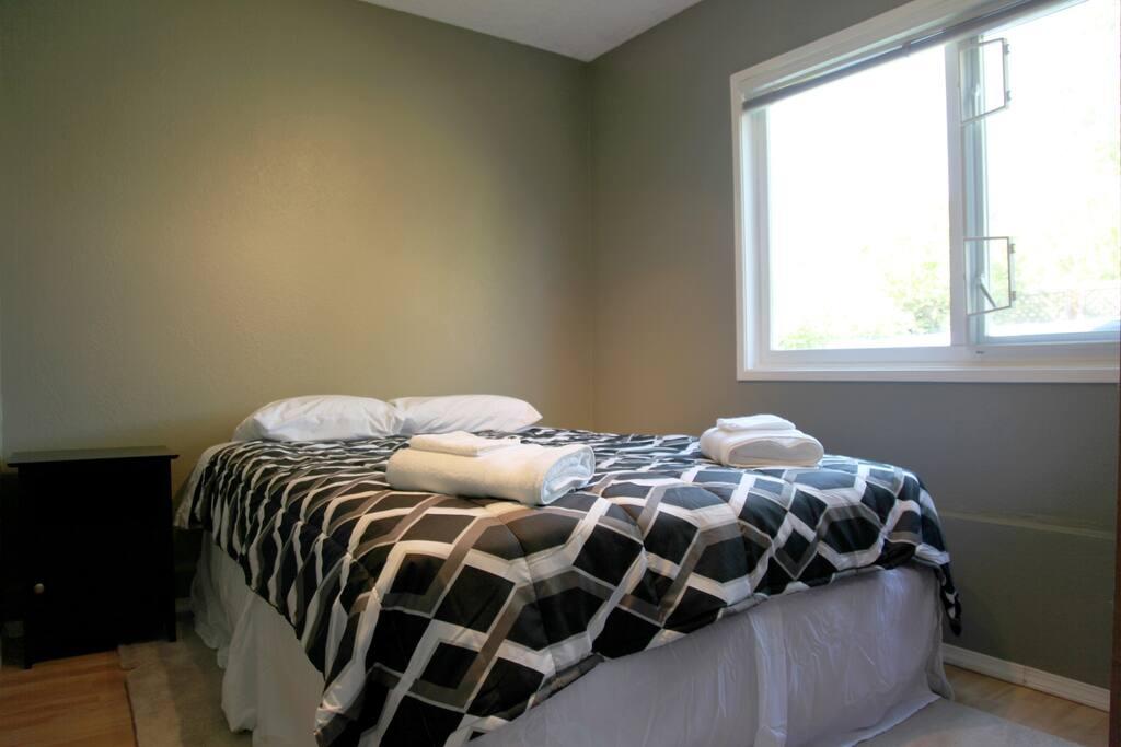 Bedroom #1  new queen bed.