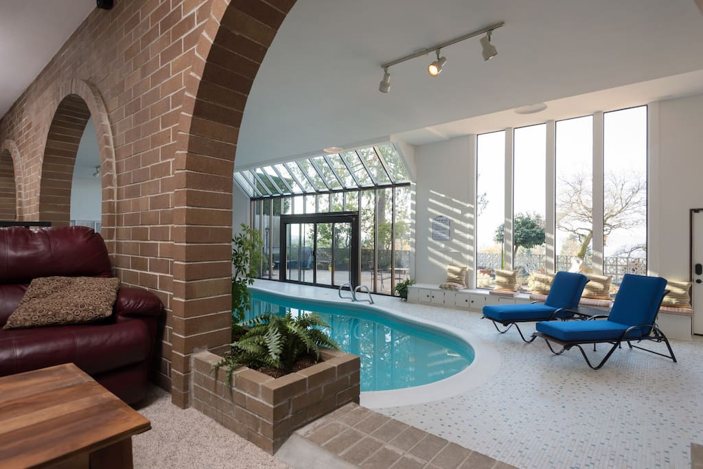 Pool from living area