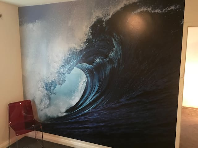 One of Scarborough's waves which is a Feature wall in your bedroom