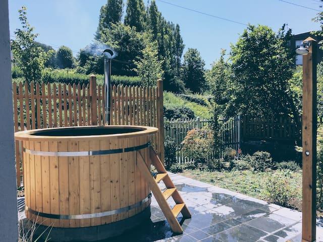 Jolie Villa Vue Meravec jardin et bain nordique