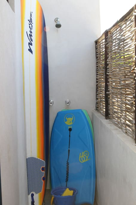 Outdoor shower and beach toys