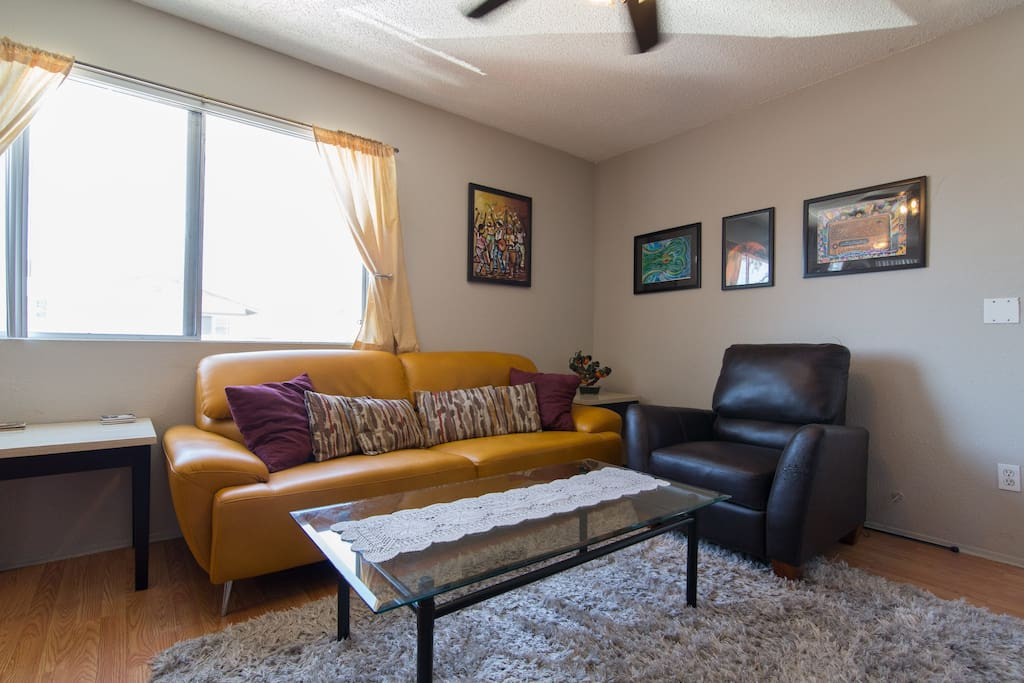 Kick back and relax in your living room hangout space