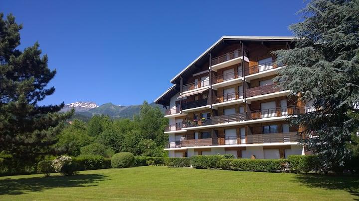 Studio lumineux à Sallanches face au Mont Blanc.