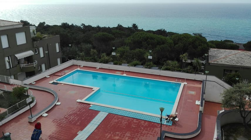 seaview apartment with swimming pool