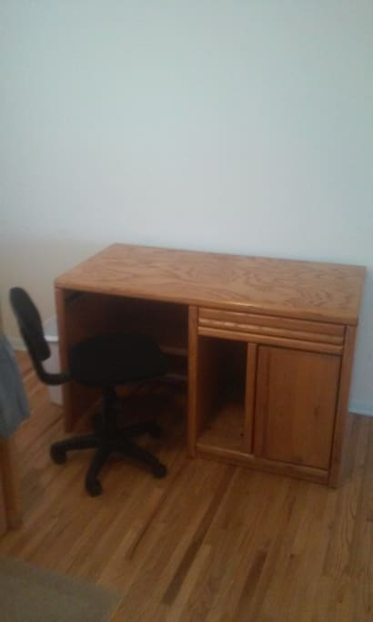 Desk and Chair in Bedroom with high speed WiFi