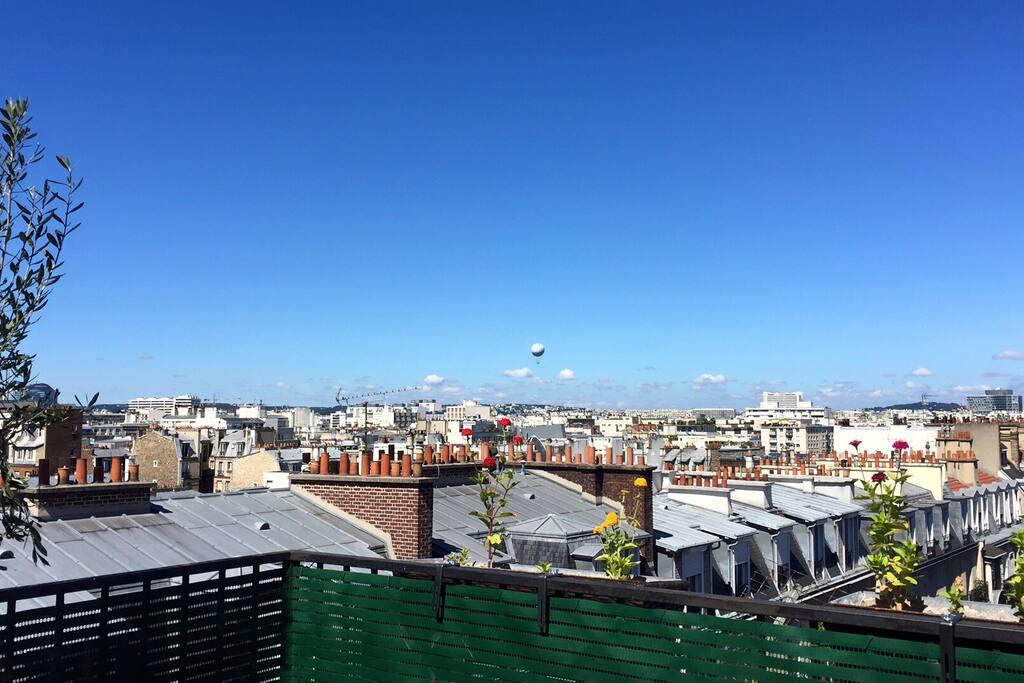 Terrasse vue sur tour eiffel 65m2 1ch 75015 Terrasse vue paris