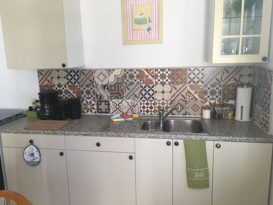 New tiles in kitchen area
