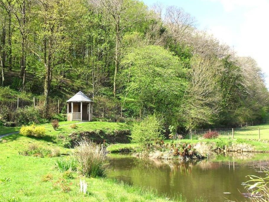 Enjoy a walk through the 38 acre woodland to the summerhouse and pond.
