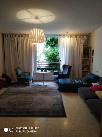 quiet green pastoral  room in center of tel aviv