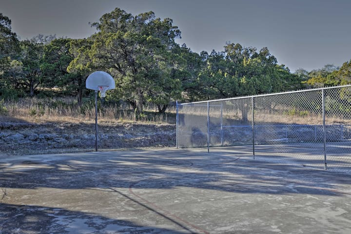Channel your competitive side on the basketball or tennis courts.