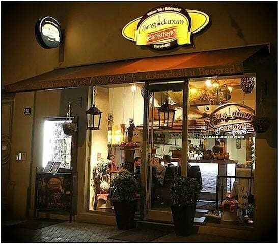 "Nice restaurant ""Singidunum"" in Belehradska street - 5 minutes walk from our apartment"